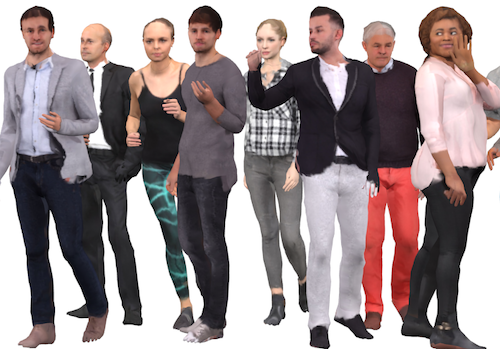 Learning to Reconstruct People in Clothing from a Single RGB Camera