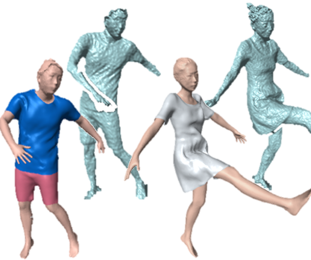 SimulCap : Single-View Human Performance Capture with Cloth Simulation