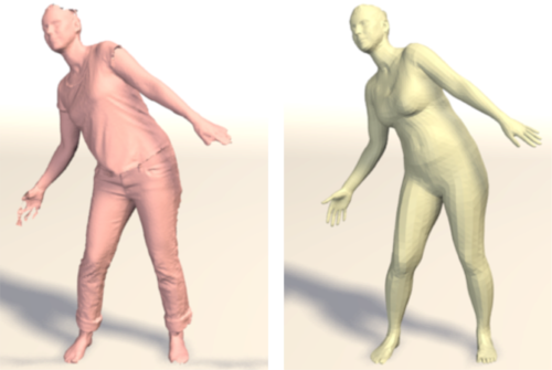 Detailed, accurate, human shape estimation from clothed 3D scan sequences
